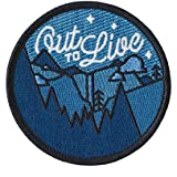 Out to Live Glow in the Dark Embroidered Sew or Iron-on Patch