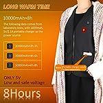 Gilet Chauffant Homme et Femmes Chargement USB Hiver Vêtement Chauffant Lavable Chauds Gilet Chauffé pour Activités de… 9