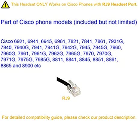 Cisco Headset Dual Ear Landline Headset with Microphone for Cisco IP