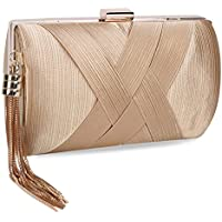 Chichitop Women's Elegant Tassel Pendant Silk Evening Party Clutch Bags Bridal Wedding Purse