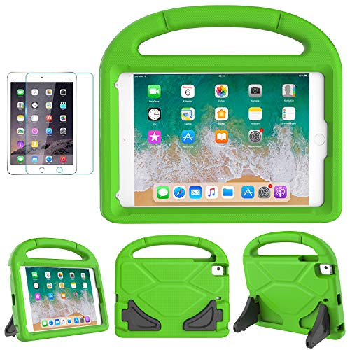 (iPad Mini 5/4/3/2/1 Case for Kids, SUPLIK Durable Shockproof Protective Handle Bumper Stand Cover with Screen Protector for Apple 7.9 inch iPad Mini 1st,2nd,3rd,4th,5th Generation, Green)