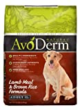 AvoDerm Natural Lamb Meal and Brown Rice Formula Adult Dog Food, 15-Pound, My Pet Supplies