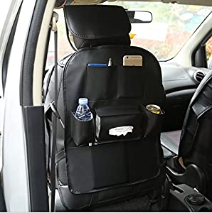 Cool Xin Car seat leather collecting and hanging bag (black, 56)