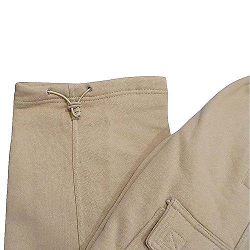 Pro Club Men's Heavyweight Fleece Cargo Sweatpant, Khaki, 5X-Large