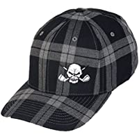 Tartan Plaid Golf Hat – Schwarz – L/XL (7 1/8–7 5/8)