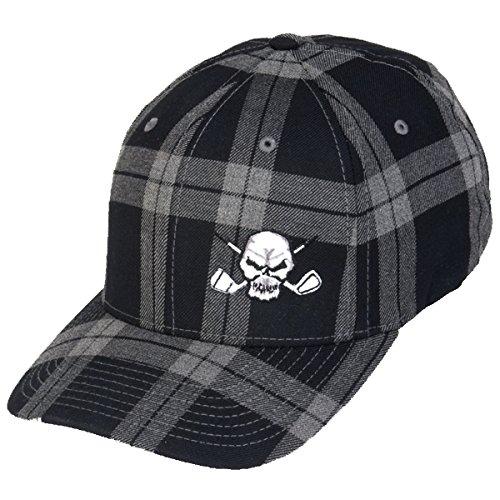 Tattoo Golf Tartan Plaid Golf Hat - Black - L/XL (7 1/8 - 7 5/8) ()
