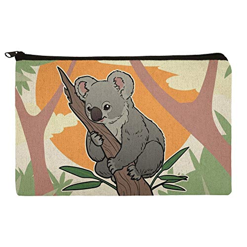 Koala Resting on Eucalyptus Tree Makeup Cosmetic Bag Organizer Pouch (Best Cheap Makeup Australia)