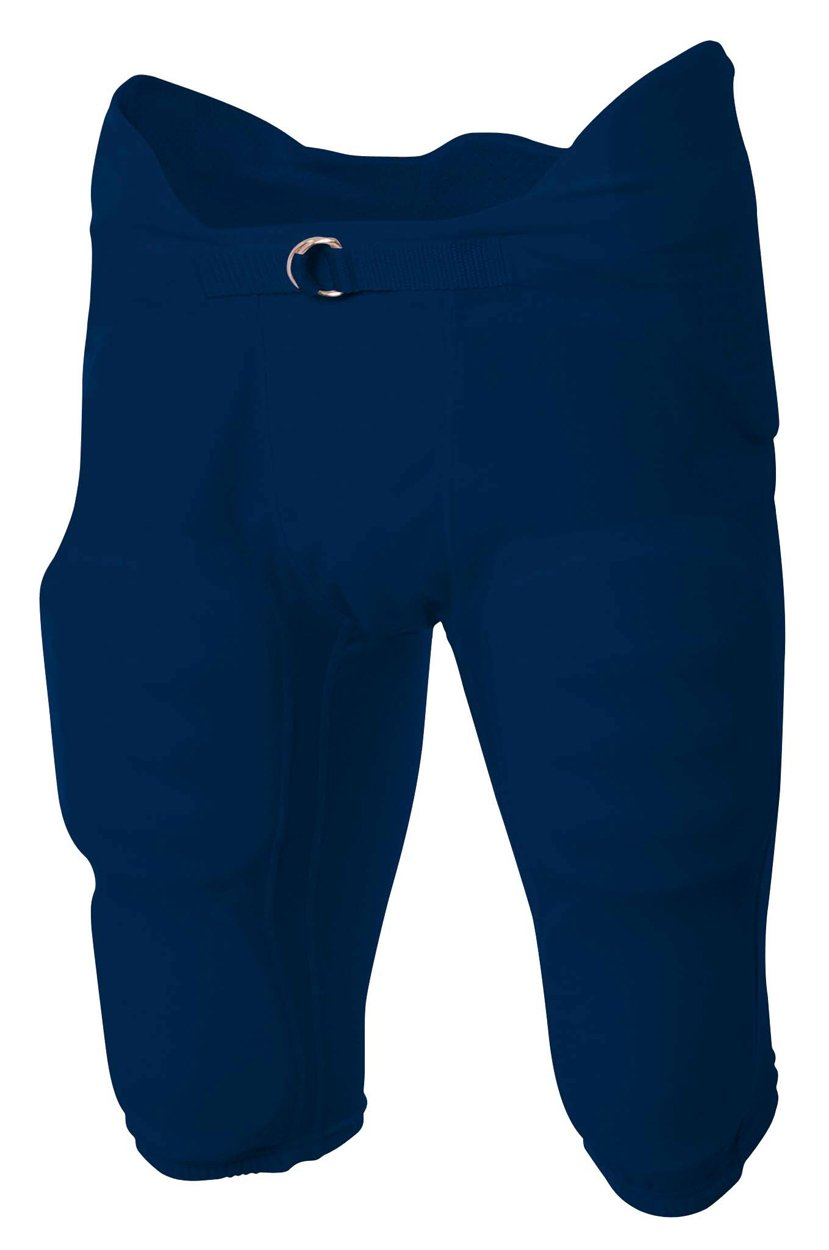 A4 Youth Flyless Integrated Football Pant (Navy) (M)