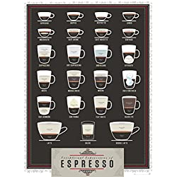 Pop Chart Lab Poster Exceptional Expressions of Espresso Coffee