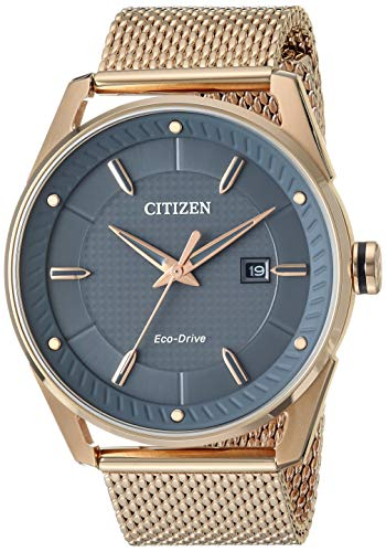 Citizen Men's Drive Japanese-Quartz Watch with Stainless-Steel Strap, Rose Gold (Model: -