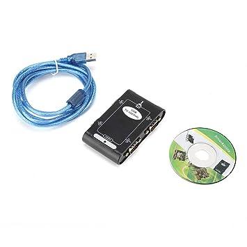 ASHATA USB2.0 a RS-232 Macho DB9 Puerto Serie de 4 Puertos ...