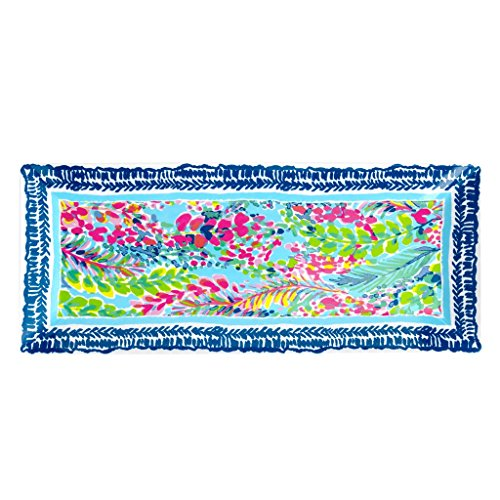 Lilly Pulitzer Melamine Serving Tray Platter, Dishwasher Safe, Catch the Wave from Lilly Pulitzer