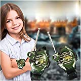 Walkie Talkie ,H-COME 1 Pair Battery Powered Children Toys Walkie Talkie &Child Watches Interphone, range up to 500ft in open area.(Battery Included) (1 Pair)