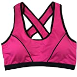 Sikye Athletic Bra Vest,Women Girl Sport Wear Seamless Solid Strap Tops (Red)
