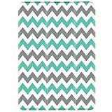 TNP iPad Air 2 / Pro 9.7 Case - Slim Lightweight Shell Smart Cover Stand, Hard Back Protection with Auto Sleep Wake for Apple iPad Air 2 / Pro 9.7 (Chevron Teal)