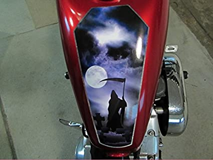 Amazoncom Coffin Tank Decal Grim Reaper Version For Harley