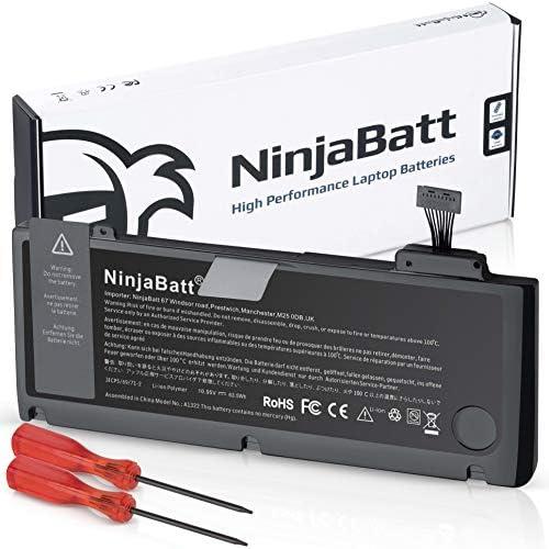 NinjaBatt Batterij A1278 A1322 voor Apple MacBook Pro 13 2009 2010 2011 2012 YearsHoge Capaciteit 635Wh1095v