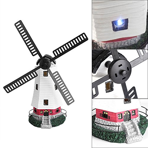 Yosoo Windmill Light, Solar Powered LED Windmill Light Lamp Garden Landscape House Dector Light IP44 Protection Level