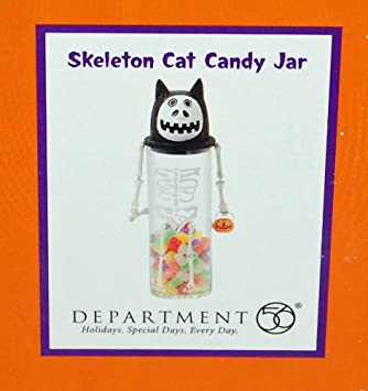 dept department 56 halloween decorations krinkles candy jar container skeleton