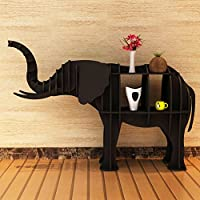 JX&BOOS Bookshelf,Creative storage rack hotel shop art decoration opening ceremony elephant animal modeling floor decoration bookcase-L 177x52x120cm(70x20x47)