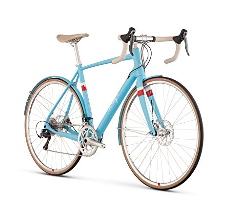 Raleigh Bikes Clubman Carbon Road Bike, Blue, 56 cm/Medium