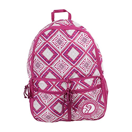 Margaritaville Womens Girls Lightweight Convertible Nylon Pouch Bag Backpack Mosaic Fuchsia Pink