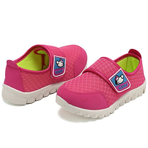 CIOR Kid's Mesh Lightweight Sneakers Baby Breathable Slip-On For Boy and Girl's Running Beach Shoes(Toddler/Little Kid) 34