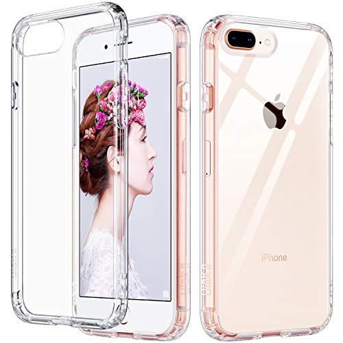 ULAK iPhone 8 Plus Case Clear, iPhone 7 Plus Case, Slim Fit Soft TPU Transparent Back Cover with Shock Absorption Bumper Corners Anti-Scratch for iPhone 7 Plus/8 Plus 5.5 inch (HD Crystal Clear)