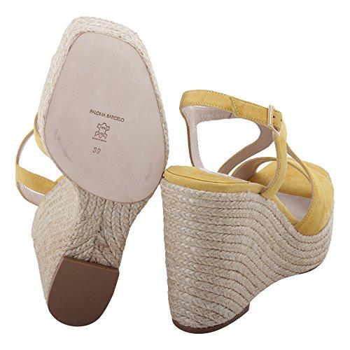 Cuero Paloma Amarillo De Mujer Zapatos Barceló Cuña FECOSUY1 TTqxAwOvg