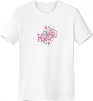 DIYthinker Rey Naipes Utensilios de juego del patrón de cuello redondo camiseta blanca de manga corta Comfort Deportes camisetas de regalos - Multi -: Amazon.es: Ropa y accesorios