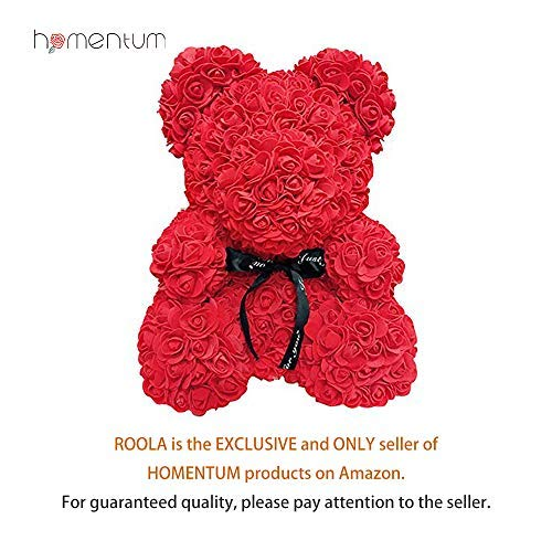 - Homentum Rose Bear Teddy Forever Artificial Flowers are The Best Gifts for Valentine's Day,Anniversaries, Birthdays, Weddings(Red, Small)