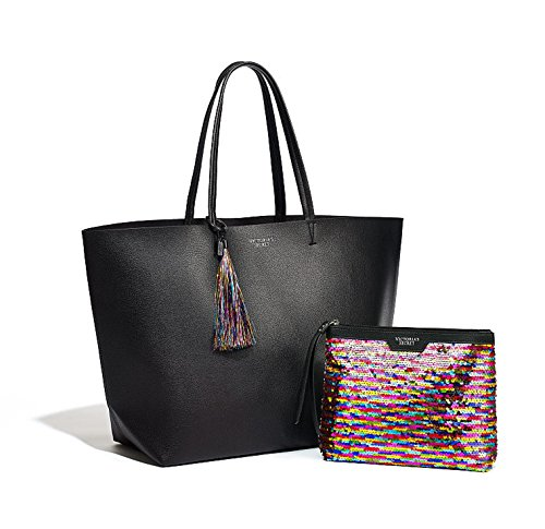 Victorias Secret BLACK FRIDAY 2016 Limited Edition TOTE & Sequin Mini BAG (Victoria Secret Black Friday Tote Bag 2016)