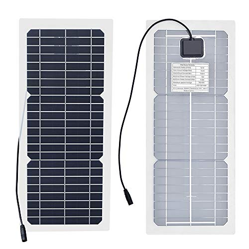XINPUGUANG 10W 12V Flexible Solar Panel Monocrystalline Photovoltaic PV Module with DC Alligator Clip Cable for RV Boat Cabin Tent Car Trucks Trailers by XINPUGUANG (Image #7)