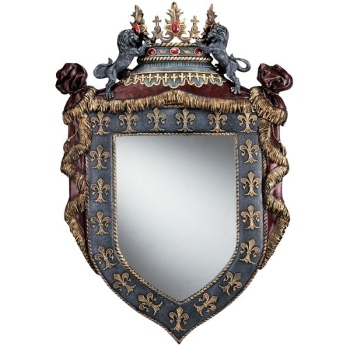 29'' Classic French Royal Chateau Sculptural Wall Mirror by XoticBrands