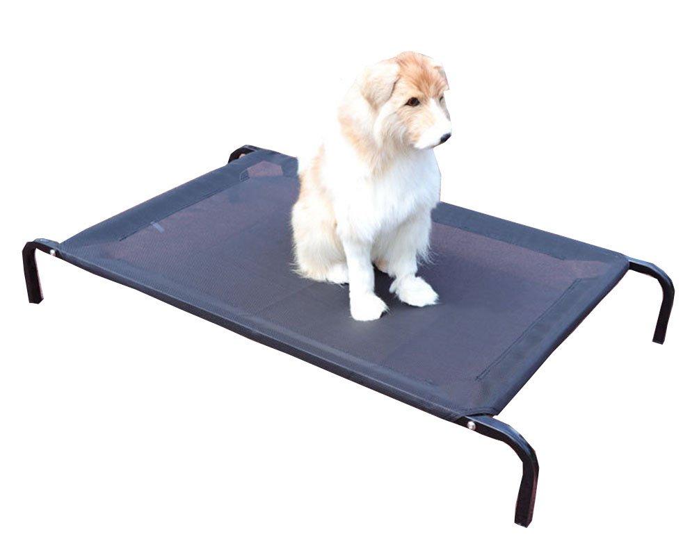 Cayuan Cama para Mascotas Elevada Malla de Ventilación Marco de Metal Camas Interior al Aire Libre Negro: Amazon.es: Productos para mascotas
