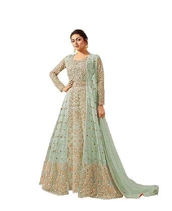 70cbbb83a7 ziya Readymade Koti weaer Ethnic Indian Pakistani Net Anarkali Salwar Kameez  for Women LT 2209 (