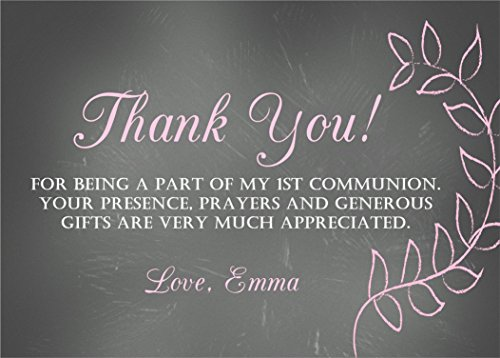 Personalized Baptism, Christening, First Communion or Baby Dedication Thank You Cards by Party Beautifully