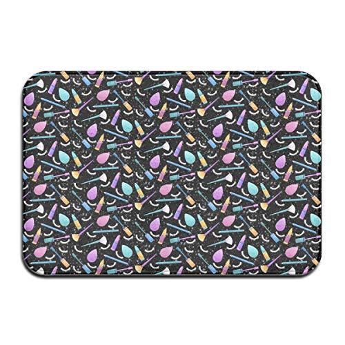 I Love Makeup Printing Doormat Soft Indoor Rugs Non-Slip Rubber Doormat for Bathroom Kitchen Living Room Home Decor -