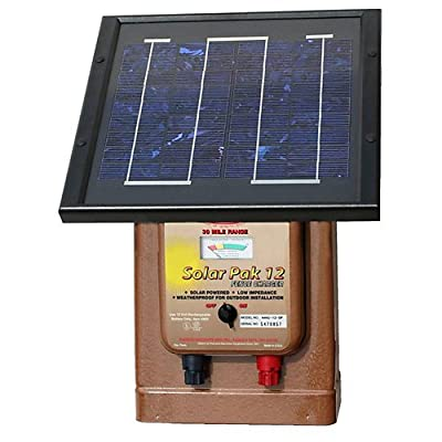 Parmak Magnum 12 Solar Pak Low Impedance 12 Volt Battery Operated 30 Mile Range Electric Fence Charger MAG12SP