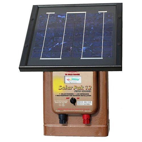 Parmak Magnum Solar-Pak 12 Low Impedance 12 Volt Battery Operated 30 Mile Range Electric Fence Charger -