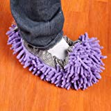 Floor Cleaner - 2pcs Purple Mop Shoe Cover Dusting Floor Cleaner...