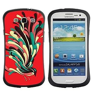 Hybrid Anti-Shock Bumper Case for Samsung Galaxy S3 / Cool Colorful Bird wangjiang maoyi