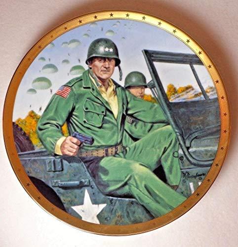 JOHN WAYNE REMEMBERING D-DAY Collector Plate by Robert Tenenbaum (Collector Wayne John Plates)