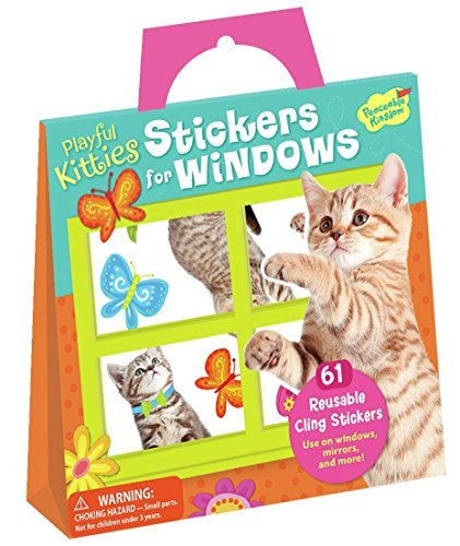 Peaceable Kingdom Playful Kitties Reusable Cling Stickers for Windows