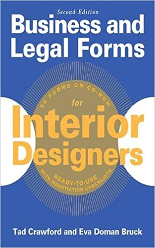 amazon com business and legal forms for interior designers second