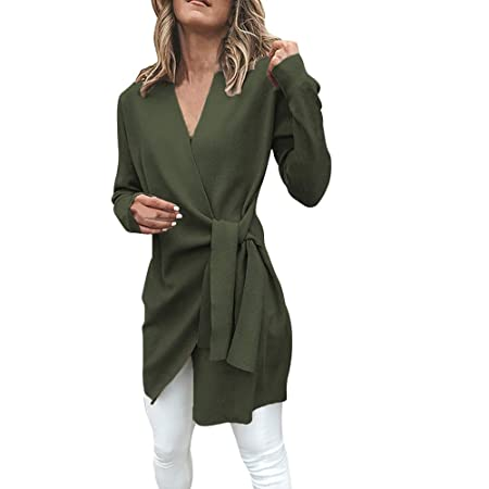 Amazon.com: Womens Coats Winter Besde Womens Fashion Casual Warm Lightweight Outwear Leather Tied Up V Neck Open Front Suit Jacket Outwear Overcoat Coat: ...