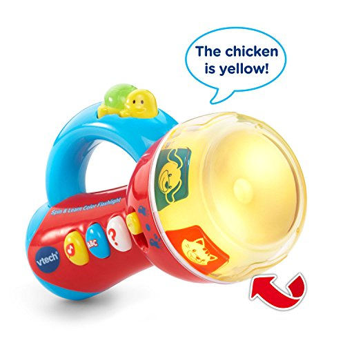 51MzIhDgF1L - VTech Spin & Learn Color Flashlight (Frustration Free Packaging)