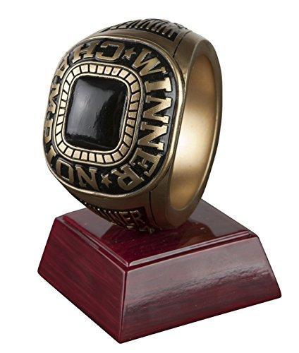 Championship Ring Trophy/ Fantasy Football FFL Resin Award / Basketball / Baseball / Soccer / Winner Victory