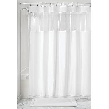 InterDesign rideau de douche avec fenêtre transparente, 183,0 cm x ...