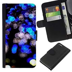 WINCASE Cuadro Funda Voltear Cuero Ranura Tarjetas TPU Carcasas Protectora Cover Case Para Apple Iphone 5C - negro brillante vibrante ciudad noche luces